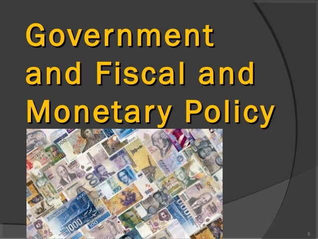 fiscal and monetary policy the response What is the difference between monetary policy and fiscal policy by adjusting the level of short-term interest rates in response to changes in the economic.
