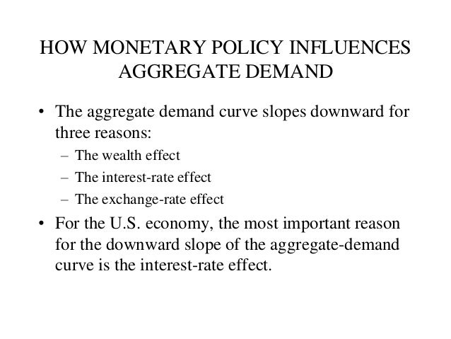 monetary policy and its effect on aggregate demand