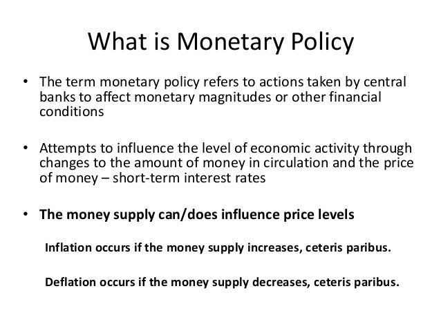 a study on monetary and fiscal policies Managing a liquidity trap: monetary and fiscal policy ivan werning nber working paper no 17344 august 2011 jel no e0,h5 abstract i study monetary and fiscal policy in liquidity trap.