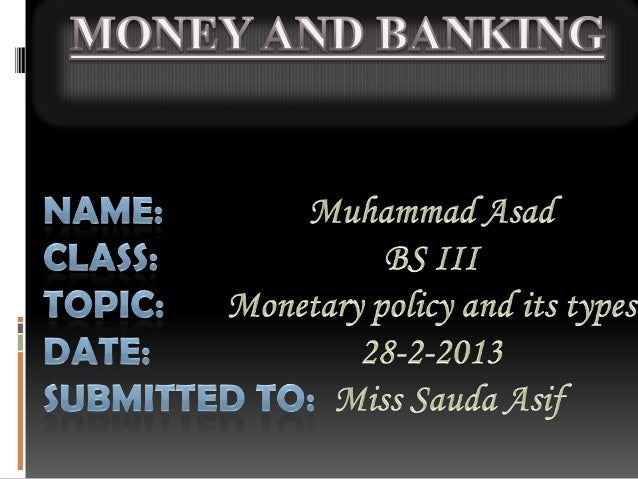 Monetary policy is the process by which the monetary authority of a country control the supply of money for the purpose of...