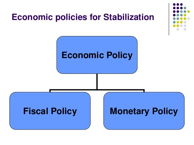 Economic policies for Stabilization  Economic Policy  Fiscal Policy  Monetary Policy