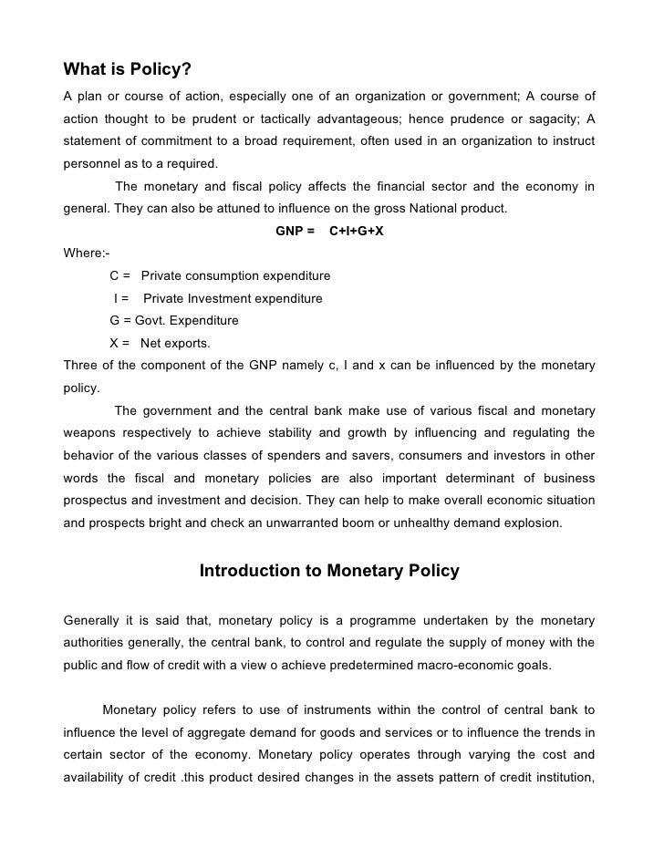 Monetary policy.doc