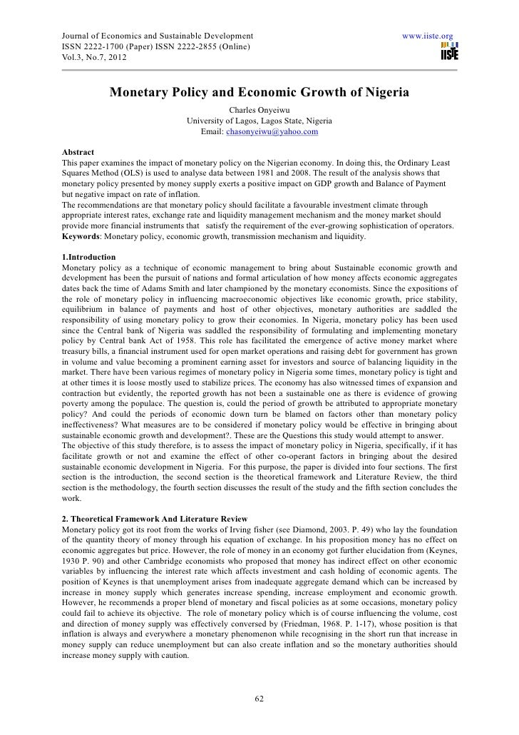 Journal of Economics and Sustainable Development                                                    www.iiste.orgISSN 2222...