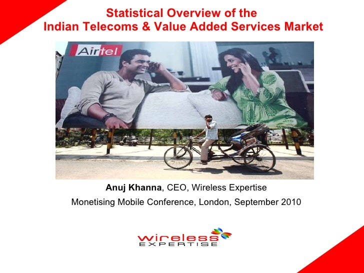 Statistical Overview of the  Indian Telecoms & Value Added Services Market Anuj Khanna , CEO, Wireless Expertise Monetisin...