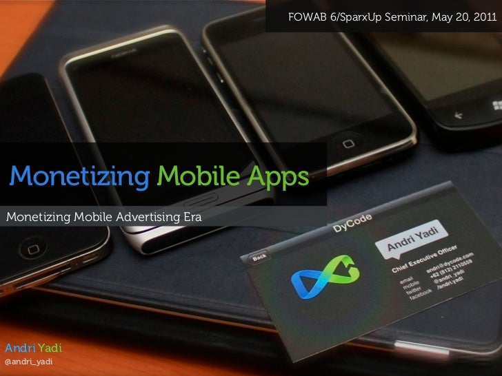 Monetizing Mobile Apps