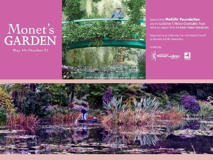 MONET'S GARDEN NY Botanical Garden