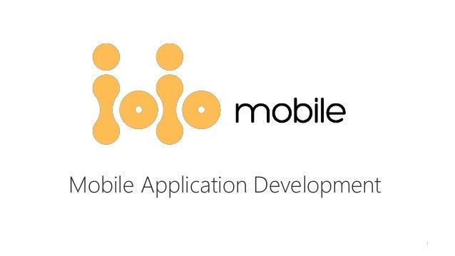 1 Mobile Application Development