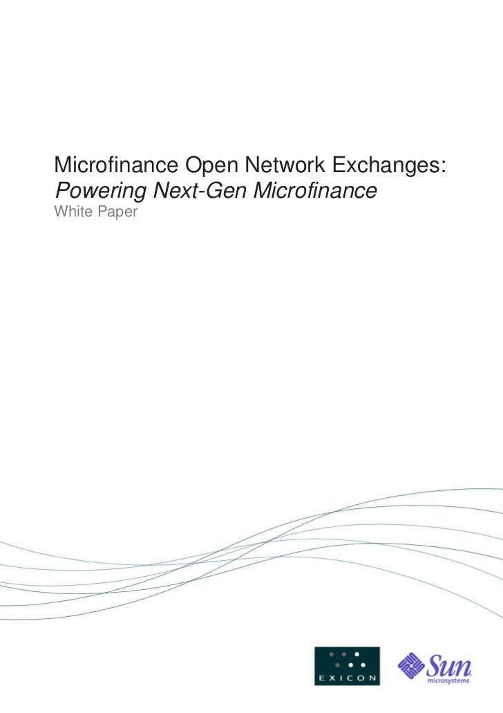 Mon Ex And Next Gen Microfinance Whitepaper