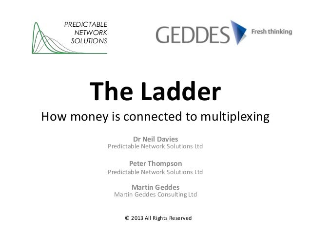 The LadderHow money is connected to multiplexingDr Neil DaviesPredictable Network Solutions LtdPeter ThompsonPredictable N...