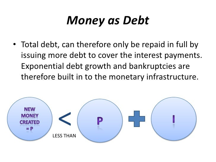 """summary of money as debt Download this executive summary as a pdf """"democratic money and capital for the commons."""