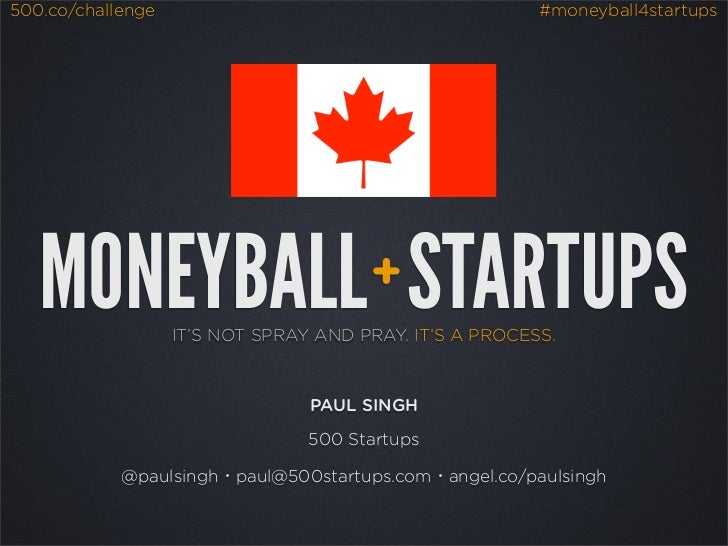 Moneyball: A Quantitative Approach to Angel Investing (Canada - Sept 2012)