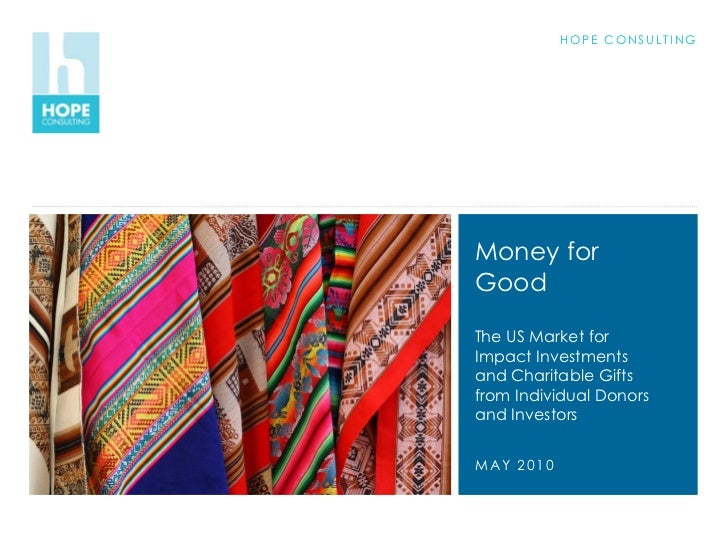 Money for good - A research in Donors - Hope Consulting