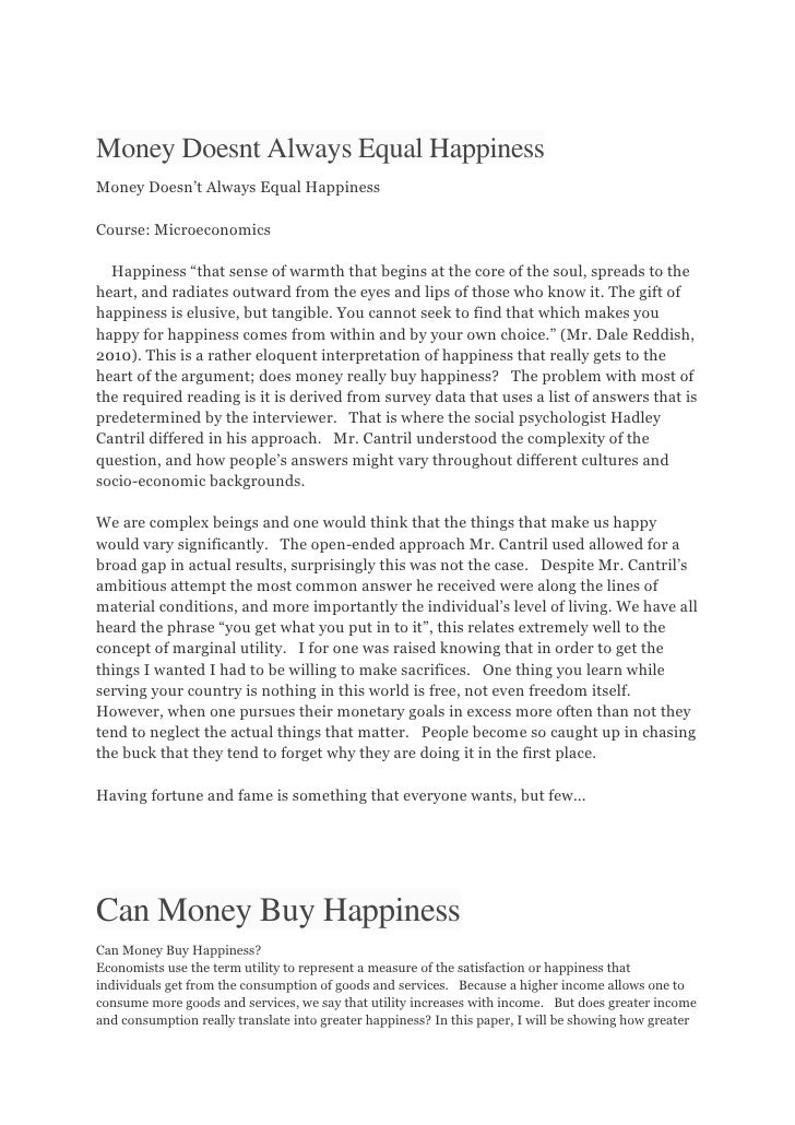 Money is everything essay