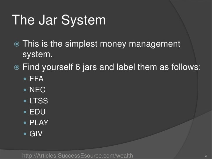 Money Jar System The Jar Systemthis is