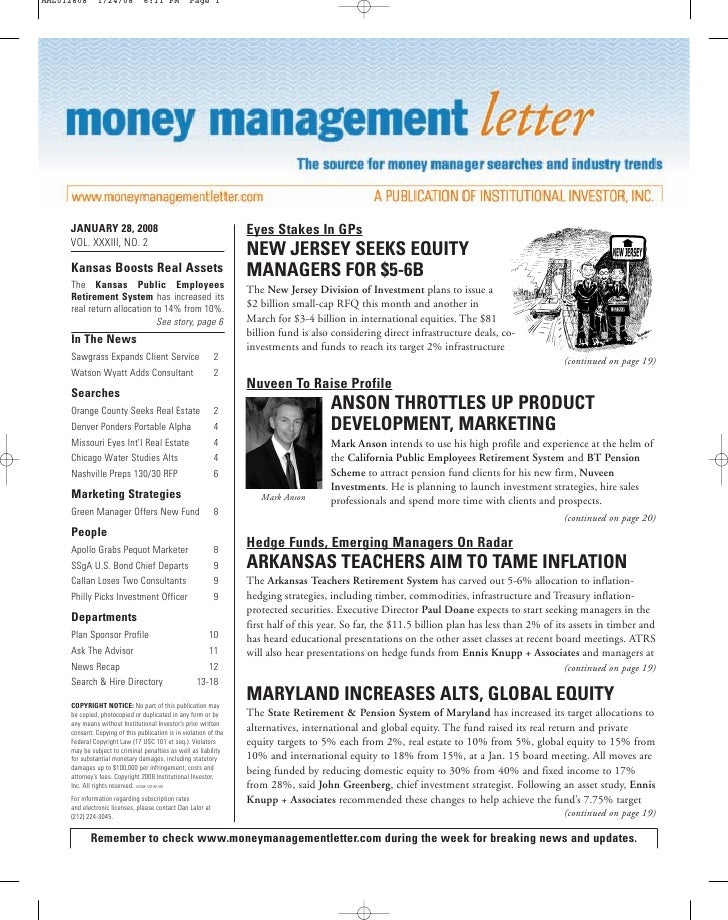 Money Management Letter - Jan 08 - UBS Greenhouse Index - Carbon Emission EUA CER  Derivatives - ilija Murisic