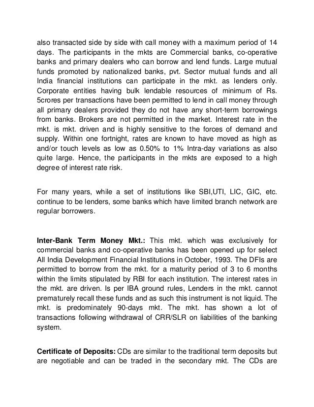 Various objectives of money market n also discuss features of goverenment securitiesas a money instrument?