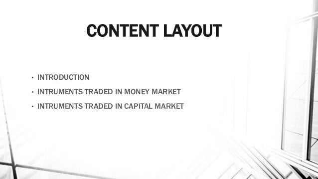 A money market refers to:?