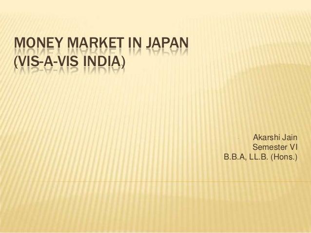Money market in japan