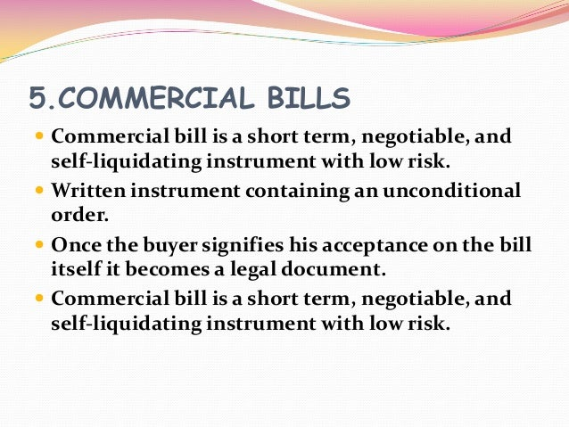 Diifference between Commercial Paper and Commercial Bill?