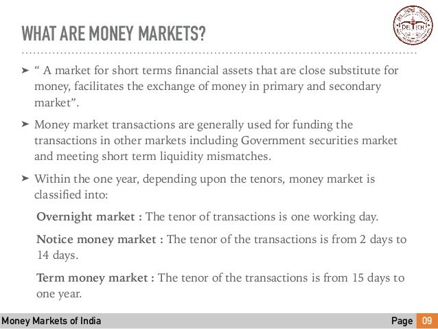 What exactly is a money market?