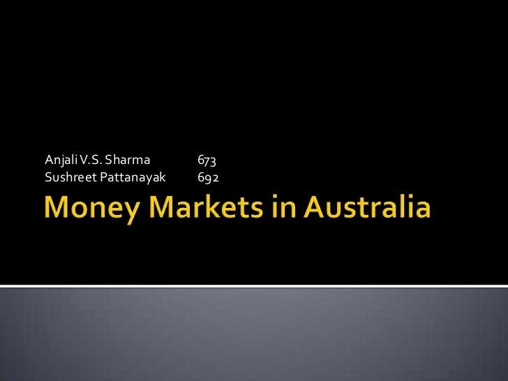 Money markets in australia