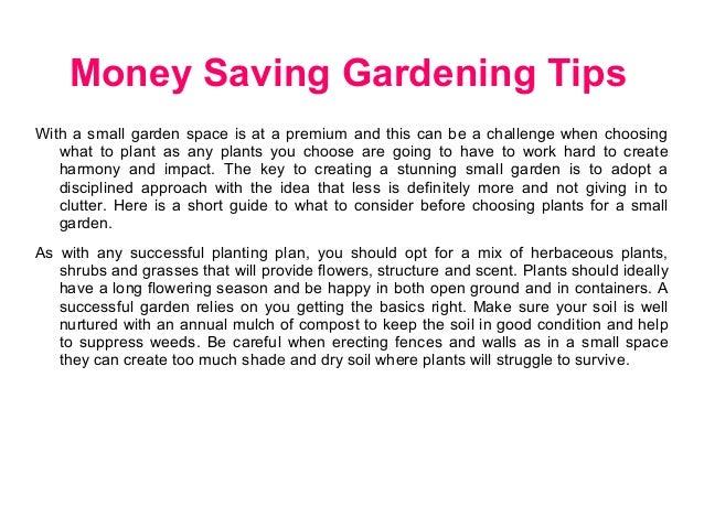 Money saving gardening tips - Money saving tips in gardening ...