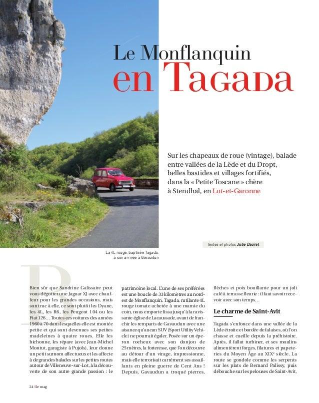 Sur les chapeaux de roue (vintage), balade entre vallées de la Lède et du Dropt, belles bastides et villages fortifiés, da...