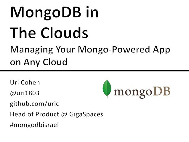 MongoDB in the Clouds