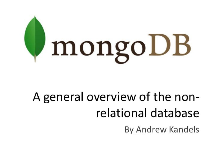 A general overview of the non-relational database<br />By Andrew Kandels<br />