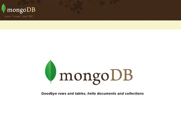 MongoDb - Details on the POC