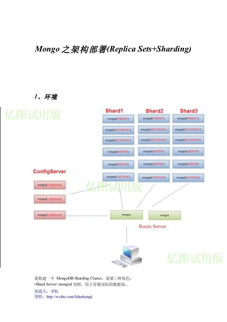 Mongo db部署架构之优先方案