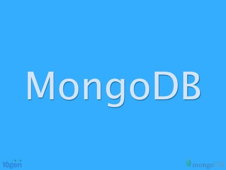 OSCON 2012 MongoDB Tutorial