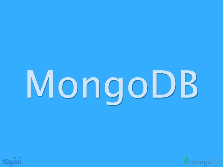 OSCON 2012 MongoDB Tutorial