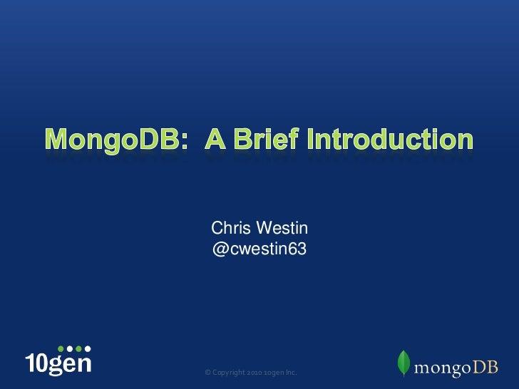 mongodb-brief-intro-february-2012