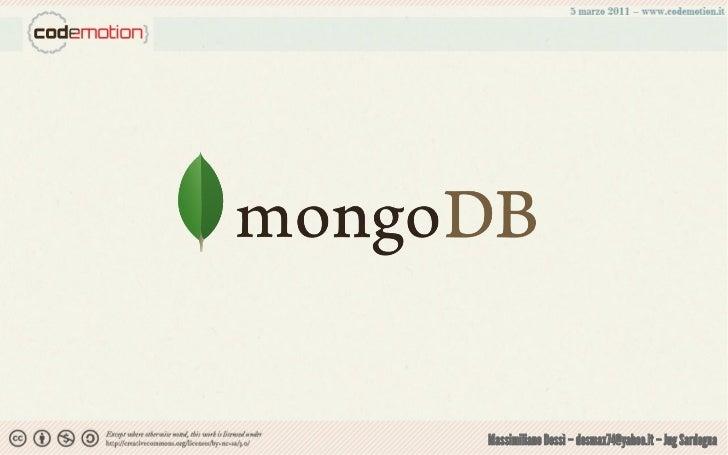 MongoDB dessi-codemotion