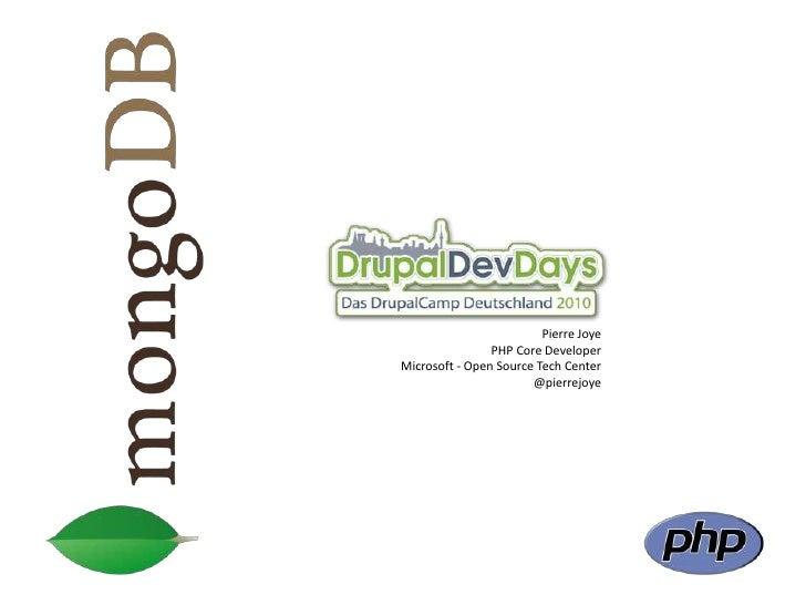 Mongodb - drupal dev days