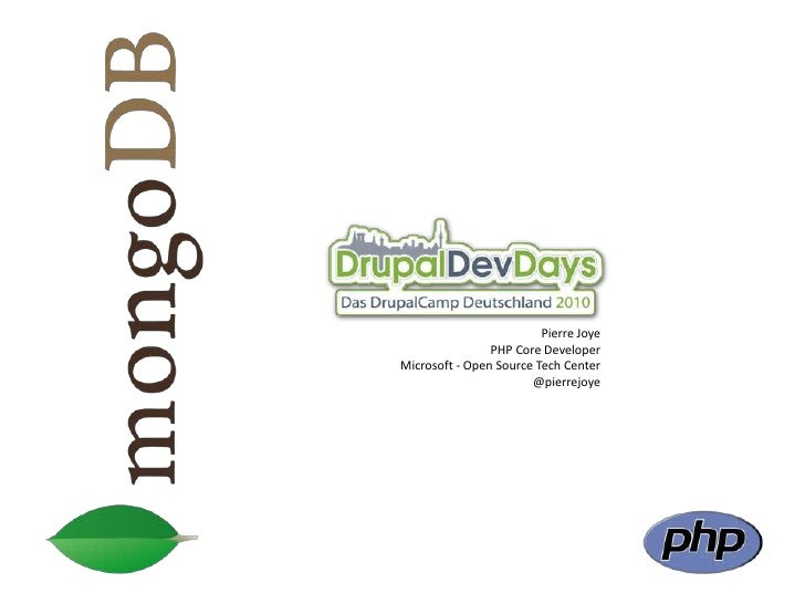 Mongodb - drupal dev days