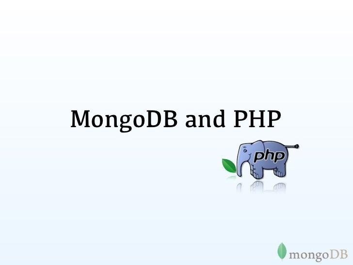 MongoDB and PHP