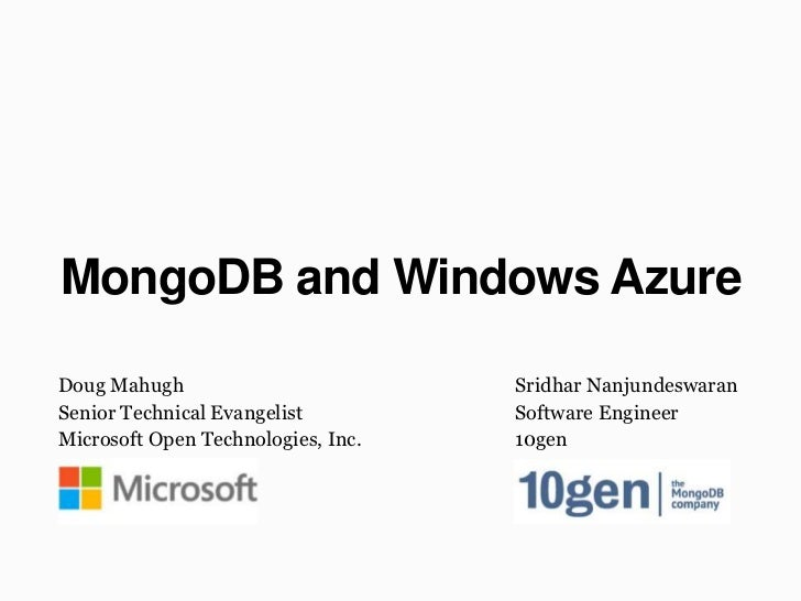 MongoDB and Windows Azure