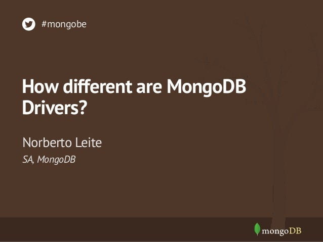 How Different are MongoDB Drivers