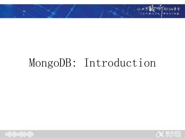 MongoDB: Introduction