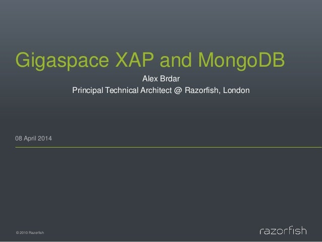 A highly-scalable Travel Portal with GigaSpaces XAP and MongoDB