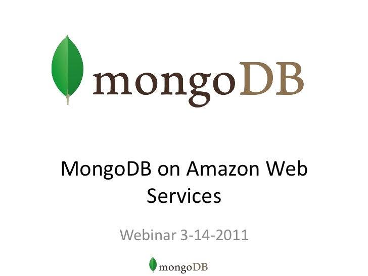 MongoDB on EC2 and EBS
