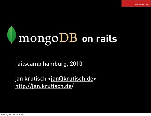 Mongodb railscamphh