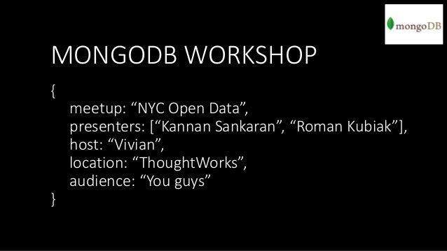 MongoDB Workshop