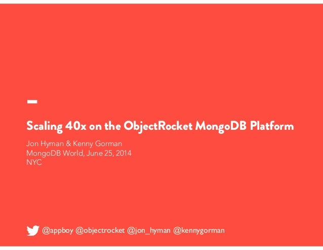 How Appboy's Marketing Automation for Apps Platform Grew 40x on the ObjectRocket MongoDB Platform
