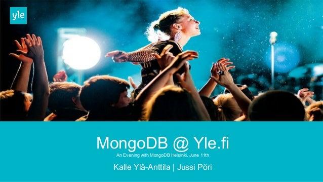 MongoDB at Yle