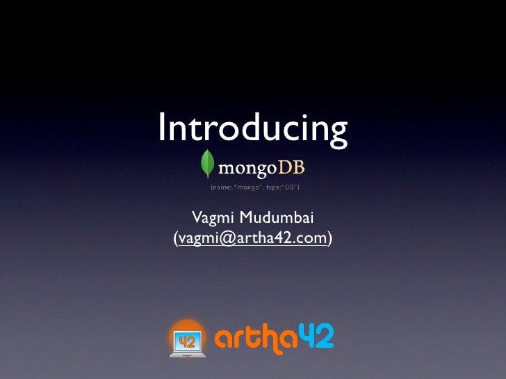 MongoDB - Introduction