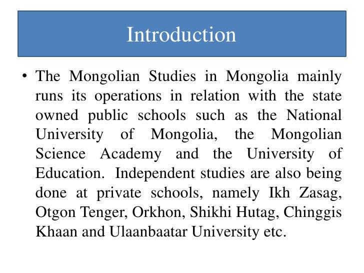 a study of mongolia Mongolia: rebuilding the dairy industry this case study report is based largely on the and promote the buying of quality milk from mongolian milk.
