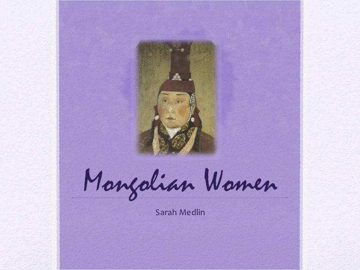 Mongolian Women Sarah Medlin